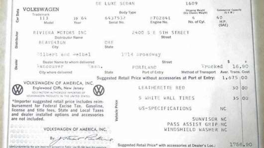 1964 Фольксваген Жук – найдорожча «капсула часу» у 2018 році