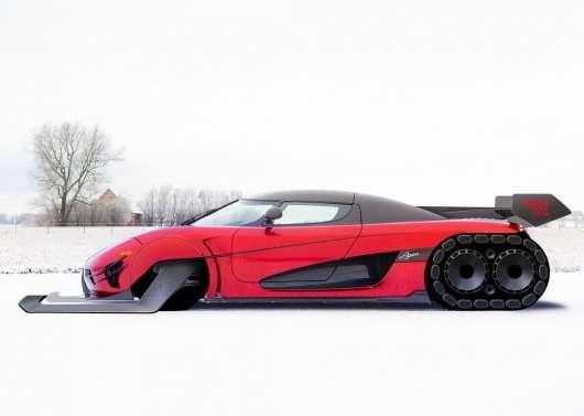 На цих санях з Koenigsegg Agera RS повинен їздити Дід Мороз
