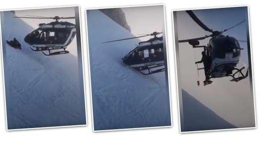 Подивіться як цей пілот посадив вертоліт в Альпах, щоб врятувати пораненого лижника